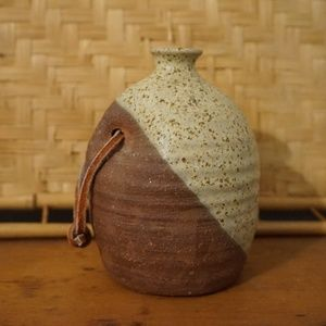 Vintage Style Speckled Pottery Small Bud Vase